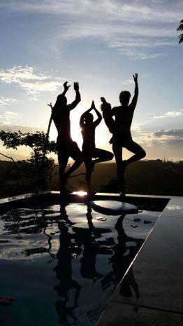Pool yoga